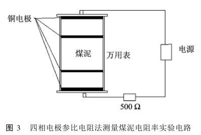四相电极参比电阻法测量煤泥电阻率实验电路