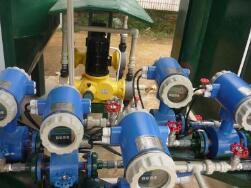 图 电磁流量计在多通道管路系统中的应用