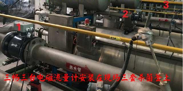 三台电磁流量计安装在现场三套杀菌釜上.jpg