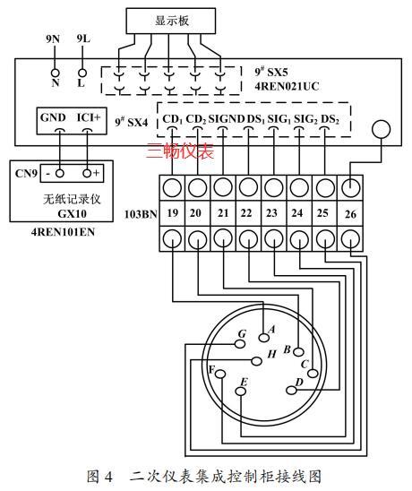 二次仪表集成控制柜接线图