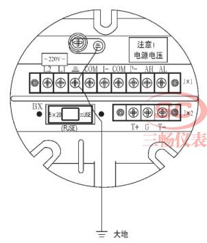 一体式电磁流量计传感器防雷接线