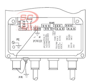 分体式式电磁流量计传感器防雷接线