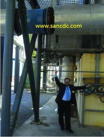 传感器安装在土耳其地热发电厂的热盐水管中